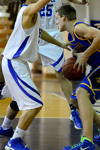 Florence Husky Ethan Bombardier against DHPH at Pueblo Central. Jeff Shane/ Daily Record