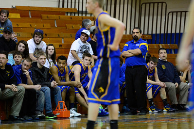 The Florence Husky bench watches the game against DHPH at Pueblo Central. Jeff Shane/ Daily Record