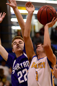 Husky Josh Sisneros against Salida. Jeff Shane/ Daily Record