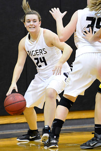 Tigers Danielle Hanenberg against Pueblo East. Jeff Shane/ Daily Record