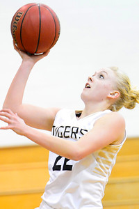 Tigers senior Nicole Decker goes up for a shots Tuesday against Coronado in the Tiger Dome. Jeff Shane/ Daily Record