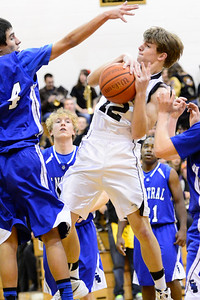 Tiger Trenton Stringari against Pueblo Central Tuesday January 15, 2013. Jeff Shane/ Daily Record