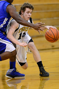 Tiger Jared Mews against Pueblo Central Tuesday January 15, 2013. Jeff Shane/ Daily Record