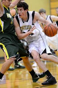 Tiger Evan Kerr against Pueblo County. Jeff Shane/ Daily Record