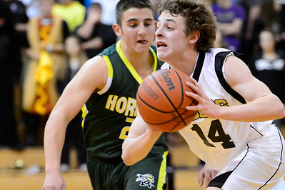 Tiger Jared Mews against Pueblo County. Jeff Shane/ Daily Record