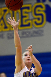 Husky Baylee Reeves against Salida. Jeff Shane/ Daily Record