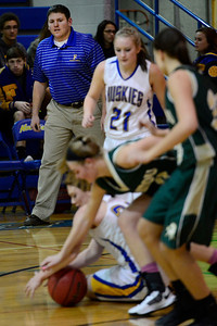 Husky Coach Brandon Roe against Manitou Springs. Jeff Shane/ Daily Record