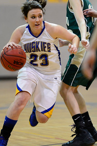 Husky Kenzie Gordon against Manitou Springs. Jeff Shane/ Daily Record
