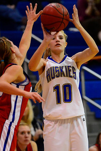Huskies freshman Kaycee Franklin takes a shot against Buena Vista Wednesday in Florence. Jeff Shane/ Daily Record