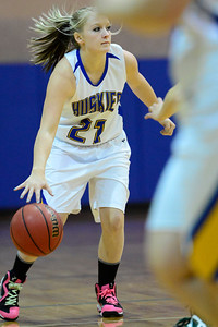 Husky Baylee Reeves against Manitou Springs. Jeff Shane/ Daily Record