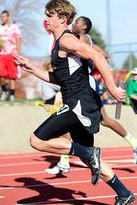 Tigers sophomore Trenton Stringari competes at the blossom track meet at Citizens' Stadium. Jeff Shane/ Daily Record