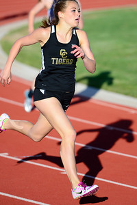Tigers senior Christine Conley competes Friday in the blossom track meet at Citizens' Stadium. Jeff Shane/ Dailuy Record