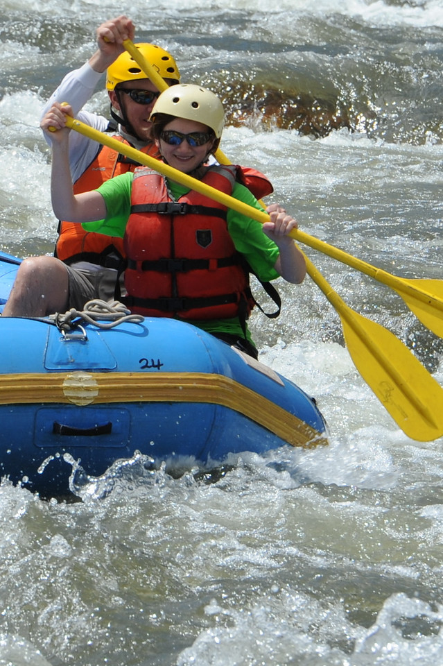 Rafters go through the Five Points rapids on the Arkansas River on Tuesday. Brandon Hopper/Daily Record