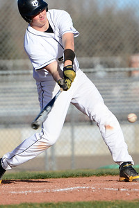 Tigers junior Gunner Javernick takes a swing against Palmer Thursday at Justin Field. Jeff Shane/ Daily Record