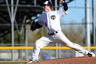 Tigers junior Brad Cutter delivers against Palmer Thursday at Justin Field. Jeff Shane/ Daily Record