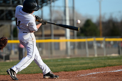 Tigers sophomore Jared Mews takes a swing against Palmer Thursday at Justin Field. Jeff Shane/ Daily Record