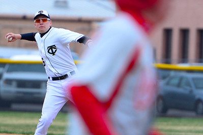 Tigers junior Logan Nethercot fields a ball against Pueblo Centennial at Justin Field. Jeff Shane/ Daily Record