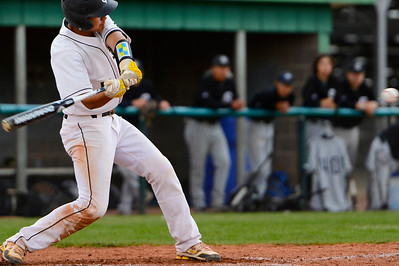 Tigers senior RJ Stainbrook takes a swing against Pueblo South Thursday at Justin Field. Jeff Shane/ Daily Record