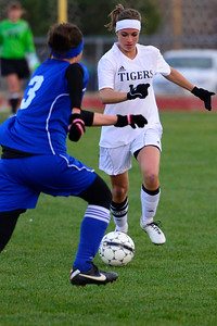 Tigers senior Emily Hoffman against Pueblo Central. Jeff Shane/ Daily Record