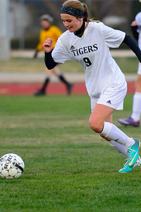 Tigers freshman Whitney Boehm against Pueblo Central. Jeff Shane/ Daily Record