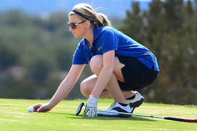 Florence golfer Danika Carnevale competes during the Tiger Invitational Monday at the Shadow Hills Golf Course. Jeff Shane/ Daily Record