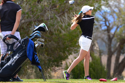 Tigers golfer Danika Vangorder competes during the Tiger Invitational Monday at the Shadow Hills Golf Course. Jeff Shane/ Daily Record