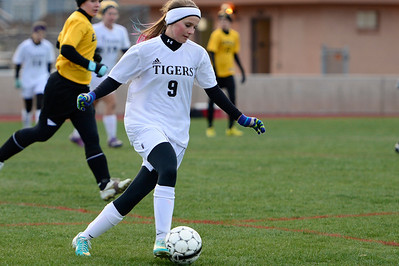 Tigers Whitney Boehm against Pueblo East at Citizens' Stadium. Jeff Shane/ Daily Record