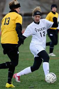 Tigers Ashley Cross against Pueblo East at Citizens' Stadium. Jeff Shane/ Daily Record