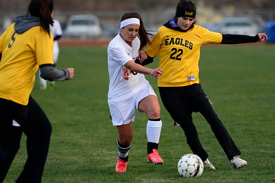 Tigers Moriah Archuleta against Pueblo East at Citizens' Stadium. Jeff Shane/ Daily Record