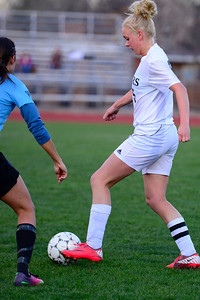 Tigers Nicole Decker against Pueblo West Friday at Citizens' Stadium. Jeff Shane/ Daily Record
