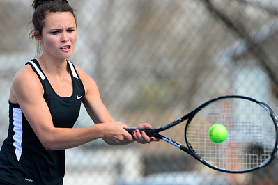 Tigers senior Brianna Lloyd competes against Pueblo South Friday at Rudd Park. Jeff Shane/ Daily Record