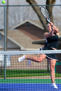 Tigers senior Kacey Ruona competes against Pueblo South Friday at Rudd Park. Jeff Shane/ Daily Record