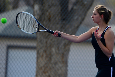 Tigers senior Josie Carochi competes against Pueblo South Friday at Rudd Park. Jeff Shane/ Daily Record