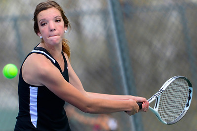 Tigers senior Nicole Berger competes against Pueblo South Friday at Rudd Park. Jeff Shane/ Daily Record