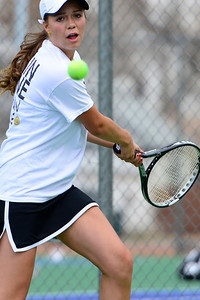 Tigers junior Erika O'Rourke competes against Pueblo South Friday at Rudd Park. Jeff Shane/ Daily Record