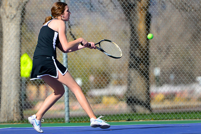 Tigers senior Nicole Berger competes Thursday against Pueblo County at Rudd Park. Jeff Shane/ Daily Record