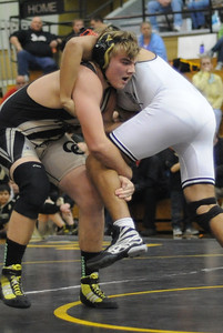 Blake Repshire during the Tigers' dual against Pueblo South on Thursday, Jan. 17, 2013. Brandon Hopper/Daily Record