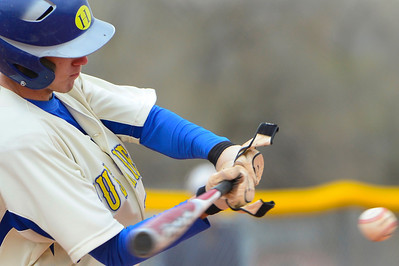 Huskies junior Dennis Donley takes a swing against TCA Tuesday at Babitz Field. Jeff Shane/ Daily Record
