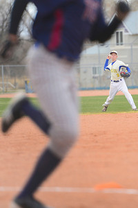 Huskies junior Jeremy Nelson field a ball against TCA Tuesday at Babitz Field. Jeff Shane/ Daily Record