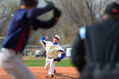 Huskies junior Zach Hoxie delivers against TCA Tuesday at Babitz Field. Jeff Shane/ Daily Record