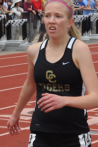 Tigers sophomore Aubrey Till after the 1,600-meter race on Saturday at the Class 4A state track and field meet at Jeffco Stadium in Lakewood. Brandon Hopper/Daily Record