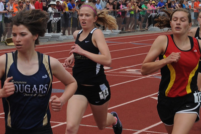 Tigers sophomore Aubrey Till runs in the 1,600-meter run on Saturday at the Class 4A state track and field meet at Jeffco Stadium in Lakewood. Brandon Hopper/Daily Record