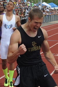 Tigers senior Zac McCoy won the 400-meter state title for the second straight year. Brandon Hopper/Daily Record
