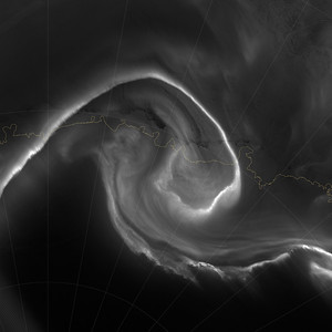 "NASA NIGHT PHOTOS On July 15, 2012, the Visible Infrared Imaging Radiometer Suite (VIIRS) on the Suomi NPP satellite captured this nighttime view of the aurora australis, or ""southern lights,"" over Antartica's Queen Maud Land and the Princess Ragnhild Coast. The image was captured by the VIIRS ""day-night band,"" which detects light in a range of wavelengths from green to near-infrared and uses filtering techniques to observe signals such as city lights, auroras, wildfires, and reflected moonlight. In the case of the image above, the sensor detected the visible auroral light emissions as energetic particles rained down from Earth's magnetosphere and into the gases of the upper atmosphere. The slightly jagged appearance of the auroral lines is a function of the rapid dance of the energetic particles at the same time that the satellite is moving and the VIIRS sensor is scanning."