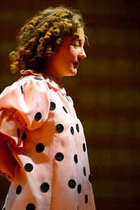"""Florence High School actor Brianon Burke rehearses a scene from their upcoming play """"You're a Good Man, Charlie Brown"""" Tuesday at the school. Jeff Shane/ Daily Record"""