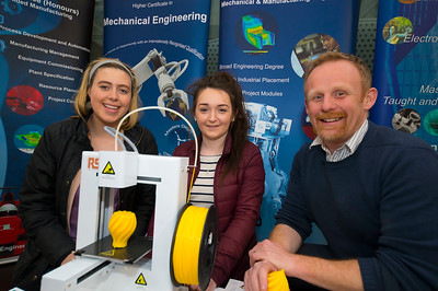 Pictured at the CAO Information Evening at WIT Main Campus are Michelle Ryan and Eilish Cullen from Wellingtonbridge, Co. Wexford with Jason Berry WIT Engineering Dept. Picture: Patrick Browne  The event gave school leavers, parents, mature students a chance to learn more about areas of study they're interested in and learn about student life at WIT. The evening featured: lecturers were available to talk about specific course information; current students were on hand to talk about their college experiences; fees and grants and student supports information; chance to take a tour of the campus and facilities; book on-campus accommodation.   Elaine Larkin, PR Executive, WIT 051-845577