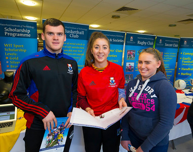 Pictured at the CAO Information Evening  at WIT Main Campus are Cormac Breslin and Laura Butler WIT and Natasha O'Connor Gusserane, Co. Wexford. Picture: Patrick Browne  The event gave school leavers, parents, mature students a chance to learn more about areas of study they're interested in and learn about student life at WIT. The evening featured: lecturers were available to talk about specific course information; current students were on hand to talk about their college experiences; fees and grants and student supports information; chance to take a tour of the campus and facilities; book on-campus accommodation.   Elaine Larkin, PR Executive, WIT 051-845577