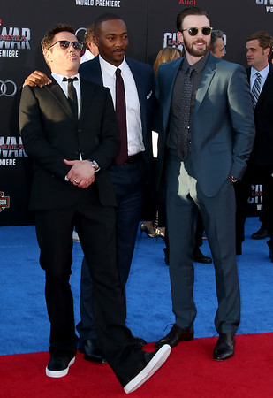 Robert Downey Jr, Anthony Mackie, Chris Evans