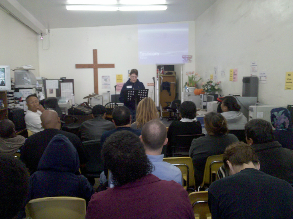 Karen at Skid Row Church