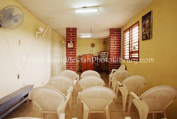 CUBA, Guantanamo. Synagogue Yad-El @ home of community president Rodolfo Mizrahi Tellez. (2008)